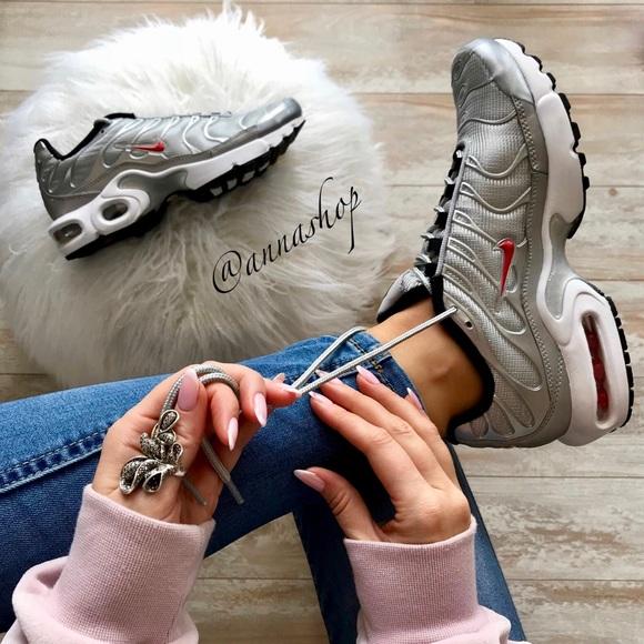 Nwt Nike Air Max Plus Qs Silver Bullet
